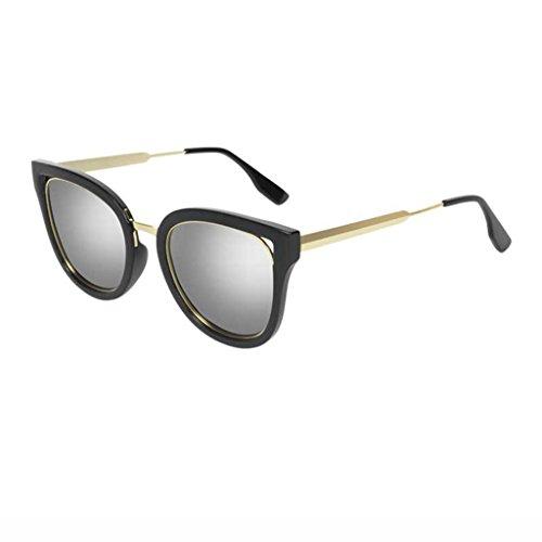 Glasses Lenses de de Polarized Soleil Lunettes Eye Elegant Silver Lunettes Lenses Mme Personality Couleur Drive Soleil Retro Silver Zp48gqx