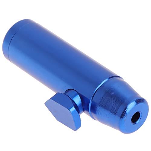 OTGO 1Pc Portable Metal Aluminum Bullet Snuff Dispenser Snorter Powder Bullet Boxes (Blue) ()