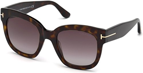 Tom Ford FT0613 52T Dark Havana Beatrix Square Sunglasses Lens Category 3 Size (Tom Ford Sunglass Lens)