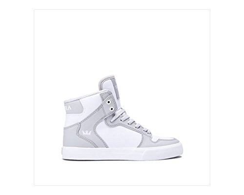 Supra Skytop S18091 - Zapatillas de ante para hombre blanco, gris (Light Grey - White)