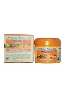 Avalon Organics Intense Defense with Vitamin C Renewal Cream, 2 Ounce