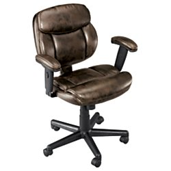 Brenton Studio(R) Ariel Low-Back Task Chair, Brown by Brenton Studio