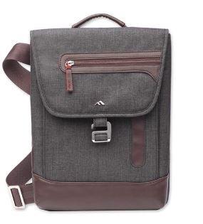 Brenthaven Collins Vertical Shoulder Messenger Bag | Designed For Microsoft Surface Pro 3 & Surface Pro 4 - Gray (Brenthaven Shoulder Case)