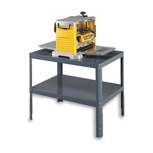 Edsal WT243630 Heavy Duty 16 Gauge Steel Adjustable-Height Multi Purpose Work Table, 36'' Width x 30'' Height x 24'' Depth, Industrial Gray