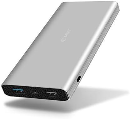 EMNT Quick Charge 3.0 Power Bank 10400mAh Batterie Externe,QC 3.0 Batterie Portable Chargeur Externe pour Tous Smartphones Tablettes-Argent