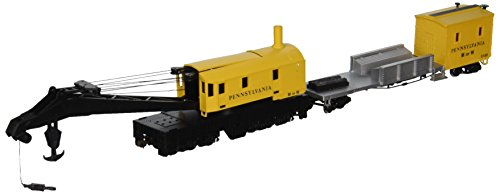 Bachmann Trains Pennsylvania Railroad (Yellow) Boom Crane and Tender (Scale Pennsylvania Railroad)