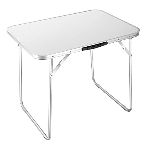 Goplus Portable Folding Table Camping Picnic 4-Person Aluminum Table Indoor Outdoor Dining Party Picnic Folded Table