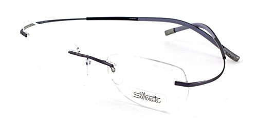 Silhouette TMA 6639/40 Eyeglasses 6057 Violet Purple Emotions - Eyeglasses Silhouette Rimless