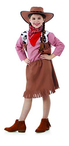 Childrens Cowgirl Costume Cow Girls Cowboy Wild West Western Toy Dress - Large -