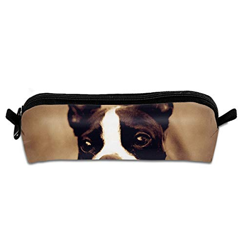 My First Pets Boston Terrier School Pencil Holder Zipper Multi-Functional Pouch