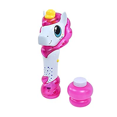 Maxx Bubbles Unicorn Bubble Wand – Light Up Bubble Blower Toy with Sounds | Outdoor Summer Fun for Kids | Party Favor and Great Gift – Sunny Days Entertainment: Toys & Games