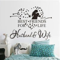 Ieasycan 1 Set Best Friends For Life Husband And Wife Quote Wall Murals Removable Wall Sticker 14 By 18 Inches Ideal For Decor Wall Furniture Mirror And Window Great For Home Bedroom Living Room Hall