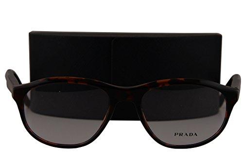 Prada Journal PR12SV Eyeglasses 54-18-145 Brown Red Havana UBK1O1 - Prada Mirrored Aviators