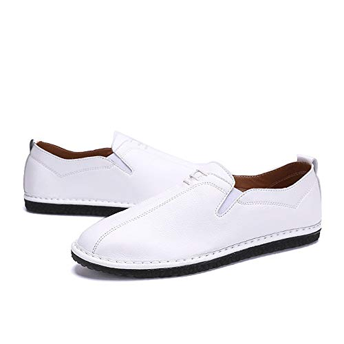 casual Pedale Bianca 42 Leather Color Dimensione Oxford Shoes uomo Ofgcfbvxd Bianca Traspirante piatto da EU Soft A Slip On Scarpe Lofer qRPwwUnxF6