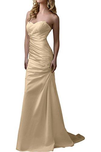 Champagner Partykleider Brautmutterkleider Spitze Etuikleider Pink Satin Abendkleider Schmaler mia Schnitt Braut Figurbetont La 7qpUq