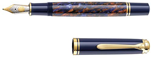 Pelikan 810036 Fountain Pen Souverän M800 Stone Garden, 18ct Gold Nib Medium M, Special Edition -  810081