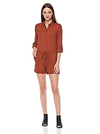 2Xtremz Skinny Jumpsuit for Women - Brown