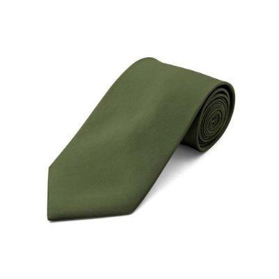 Solid Olive color Formal Tie Satin Neckties by Tieguys