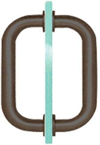 """CRL Brass 6/"""" BM Series Tubular Back-to-Back Pull Handle Frameless Shower Door"""