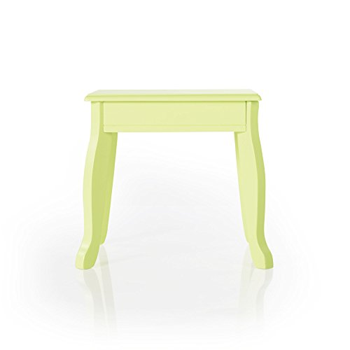 Guidecraft Vanity Table and Stool Set with Mirror and Make-Up Drawer - Children's Furniture - Light Green by Guidecraft (Image #5)