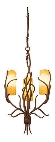 Golden Wheat with Snowflake 1452 Additional Finish and Shade Options for Napa 3 Light Chandelier Gold ()