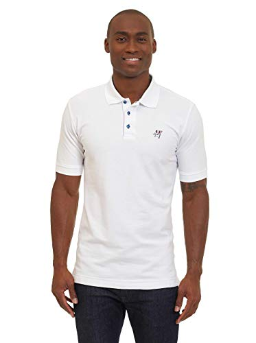 (Robert Graham Devil S/S Knit Polo Classic Fit White)