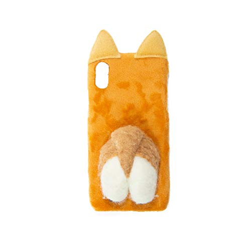 3D Felt Corgi Butt Hard Phone case (iPhone X/7 Plus/8 Plus) (Iphone X)