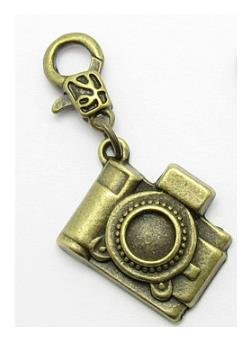 Zipper Pull Jewelry Charm - 1