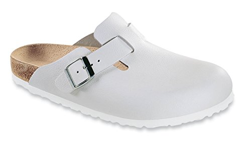Birkenstock Boston Leather Clog,White,36 M EU