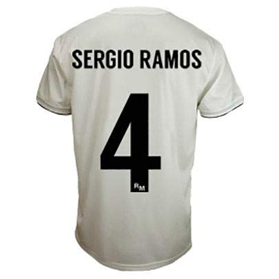 c2938ea2455 Image Unavailable. Image not available for. Color  Real Madrid Sergio Ramos  Junior White t-Shirt