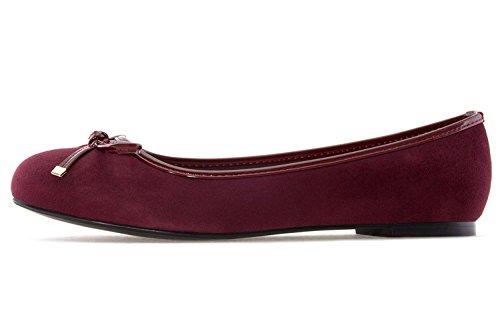 Andres Machado Damen Ballerina - Weinrot Schuhe in Übergrößen