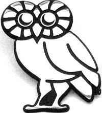 Metal AMG Rice Owl Mascot Auto Emblem