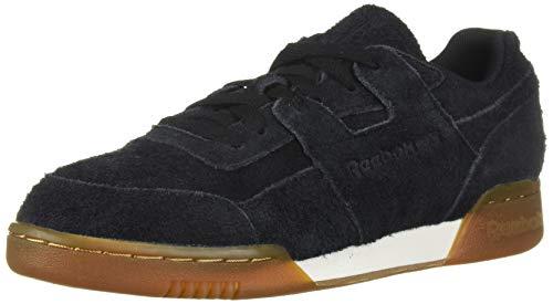 Reebok Men's Workout Plus Sneaker, Suede-Black/Gum, 12 M US