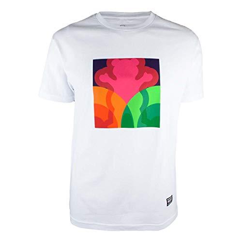 Camiseta Grizzly Prism - Branco-Gg