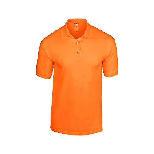 - Gildan Adult DryBlend Jersey Short Sleeve Polo Shirt (3XL) (Safety Orange)