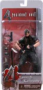 NECA Resident Evil 4 Series 1 Action Figure Leon S. Kennedy with (Leon Kennedy Halloween)