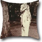 (artistdecor Oil Painting Eugène Atget, French - Versailles-Faun Throw Pillow Covers 20 X 20 Inches / 50 by 50 cm Best Choice for Dance Room,Living Room,Drawing Room,bf,Teens with Both)