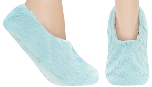 Aqua Blue Fur (Capelli New York Fur Pull On With Soft Lining And Grippers Aqua Medium / Large)