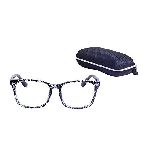 Lens Eyewear Glasses Oversized Clear Black Square Spot Vintage ...