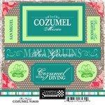 Scrapbook Customs - World Collection - Mexico - Cardstock Stickers - Cozumel - Bon ()
