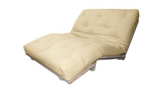 Houston Mission Style Convertible Futon Lounger, Queen, - The Premium Houston Outlets