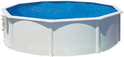 Gre KITPR353 Bora Bora - Piscina Elevada Redonda, Aspecto Acero ...