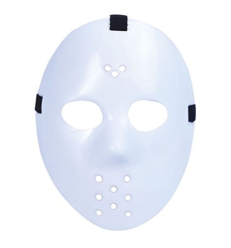 White Halloween Jason Hockey Mask ()