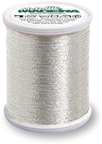 Madeira 9842-41 Metallic Nylon//Polyester Embroidery Thread Textured Silver 40wt//220 yd