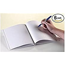 """White Blank Books with Hardcovers 6""""W x 8""""H (6 Books / Pack) by Ashley Productions"""