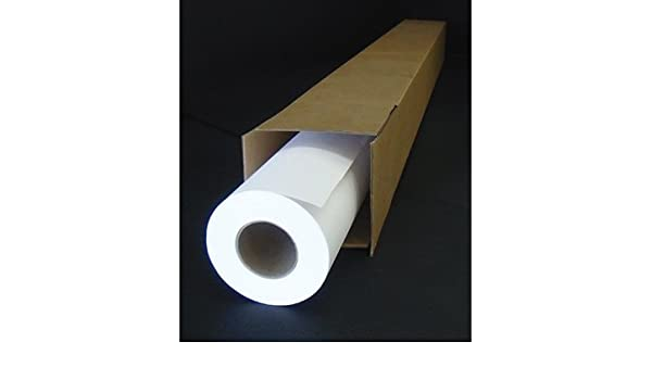 Papel para plotter 61 cm x 50 m (B X H), 80 g/m², color blanco: Amazon.es: Oficina y papelería