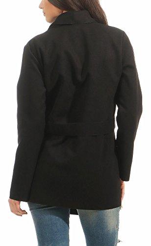 Size Malito Abrigo 3051 De Larga Cascada 3050 Cárdigan Corte Mujer Negro One Capote Rqv6rTxwXR