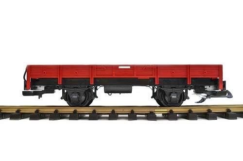 Zenner Niederbordwagen rot, Umbau eines LGB Wagens der Spur G auf Spur II 64mm