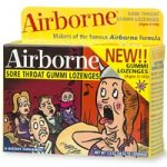 Airborne Gummi Lozenges, Variety Pack Of 6 Natural Flavors, 18-Count Boxes (Pack of 6)