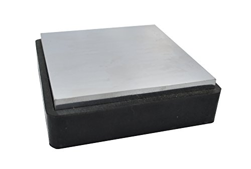 """4"""" STEEL & RUBBER BLOCK DOUBLE SIDED JEWELRY WORKING ANVIL BENCH TOOL MACHINIST"""